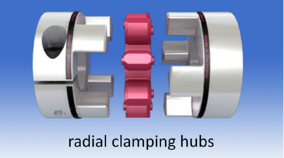 coupling with clamping hub