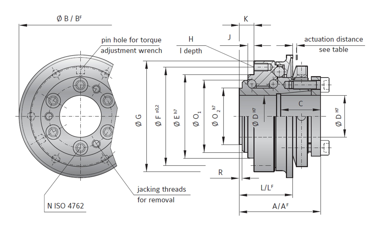 torque limiter dimensions