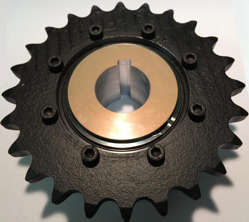 sprocket mounted on torque limiter