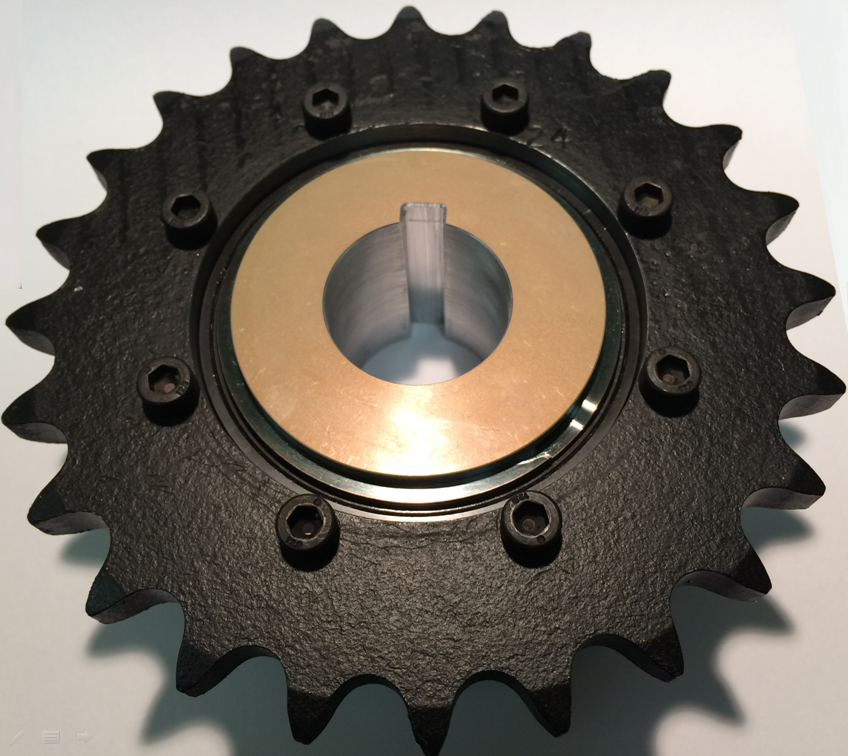 sprocket mounted on torque limiter